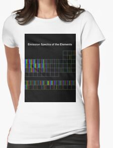 Periodic Table of Elements Spectra Womens Fitted T-Shirt