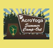 NW AcroYoga Summer Campout - Yellow by spreadtheweird