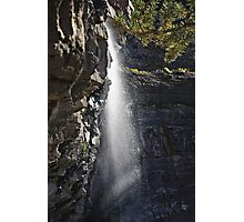 Cascade Water Fall Side View Photographic Print