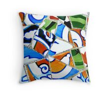 Gaudi Tile Work 2  Throw Pillow