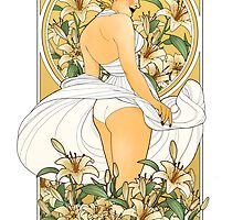 Art Nouveau Marilyn Monroe by Luluvanlou