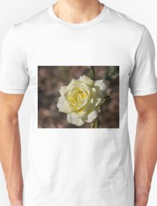 Do not tell the Yellow Rose it's Winter.....  Unisex T-Shirt