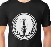 Retro scooter and laurel Unisex T-Shirt