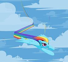 A rainbow and a Dash by InLucidReverie