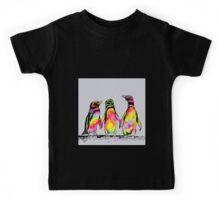 Neon penguins Kids Tee
