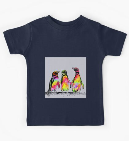 Neon penguins Kids Tee