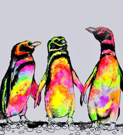 Neon penguins Sticker