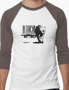 BANKSY - BARCODE Men's Baseball ¾ T-Shirt