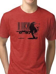 BANKSY - BARCODE Tri-blend T-Shirt