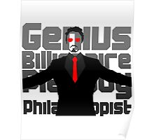 Genius billionaire playboy philanthropist. (fanart) Poster