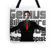 Genius billionaire playboy philanthropist. (fanart) Tote Bag