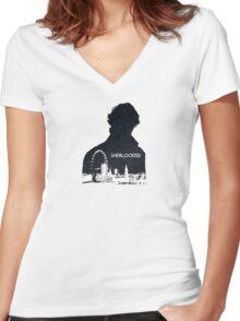 Sherlocked Women's Fitted V-Neck T-Shirt