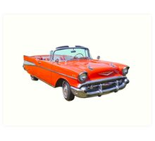 1957 Chevrolet Bel Air 2-door Convertible Antique Car Art Print