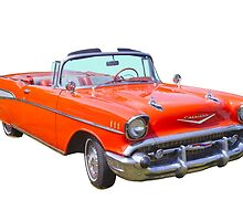 1957 Chevrolet Bel Air 2-door Convertible Antique Car by KWJphotoart