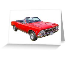 1966 Chevrolet Chevelle Convertible 283 Muscle Car  Greeting Card
