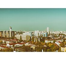 Aerial View Of Bucharest City Skyline Photographic Print