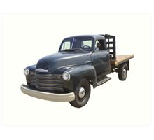 1950 Chevrolet Flat Bed Antique Pickup Truck Art Print
