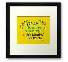 Piano Player Framed Print