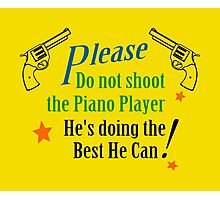 Piano Player Photographic Print