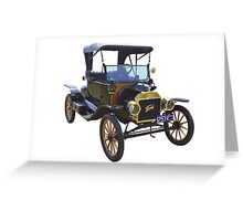 1914 Model T Ford Antique Car Greeting Card