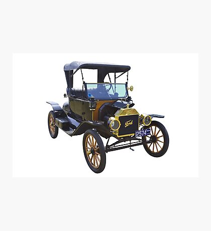 1914 Model T Ford Antique Car Photographic Print