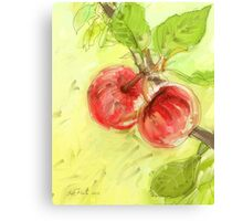 Two Red Apples - 2012 Canvas Print
