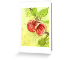 Two Red Apples - 2012 Greeting Card