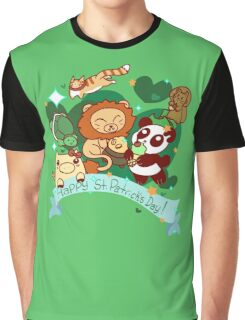 Happy St. Patrick's Day Animals Graphic T-Shirt