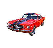 Red 1966 Ford Mustang Fastback Photographic Print