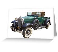 1930 Ford Model A Antique Pickup Truck Greeting Card