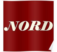 Nord synth white Poster