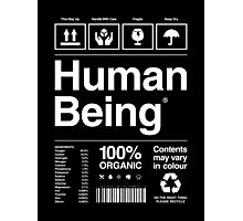 Human Being® | Alternate Photographic Print