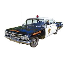 1960 Chevrolet Biscayne Police Car Photographic Print
