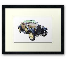 1931 Ford Model A Cabriolet Antique Car Framed Print
