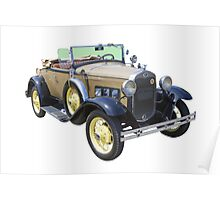1931 Ford Model A Cabriolet Antique Car Poster