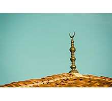 Islamic Religion Crescent Moon Sign On Mosque Photographic Print