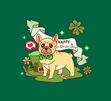St. Patrick's Day French Bulldog  Womens Fitted T-Shirt