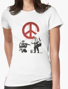 BANKSY - CND Womens Fitted T-Shirt