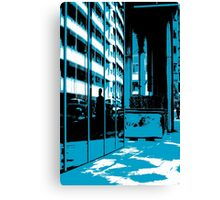 Office Glass Reflection Canvas Print