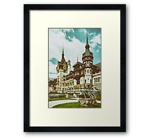 Peles Castle In Sinaia, Romania Framed Print