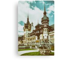 Peles Castle In Sinaia, Romania Canvas Print
