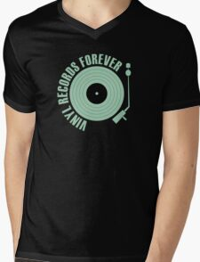 vinyl records green  Mens V-Neck T-Shirt