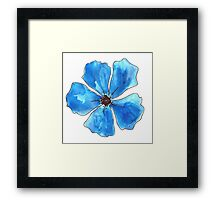 cute watercolor flower / cute sun  Framed Print