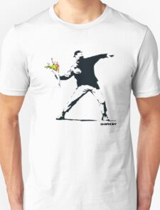 BANKSY - RAGE FLOWER THROWER Unisex T-Shirt