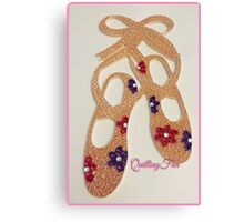 Floral Ballet Slippers Canvas Print