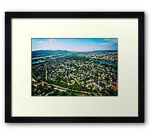 Aerial View Of Vienna City Skyline Framed Print