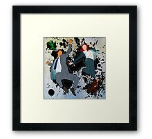 Mulder and Scully - Jump Framed Print