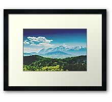 Carpathian Mountains Landscape With Blue Sky In Summer Framed Print