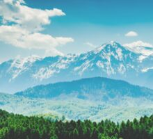 Carpathian Mountains Landscape With Blue Sky In Summer Sticker
