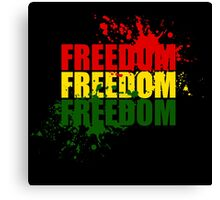 Reggae Freedom Canvas Print